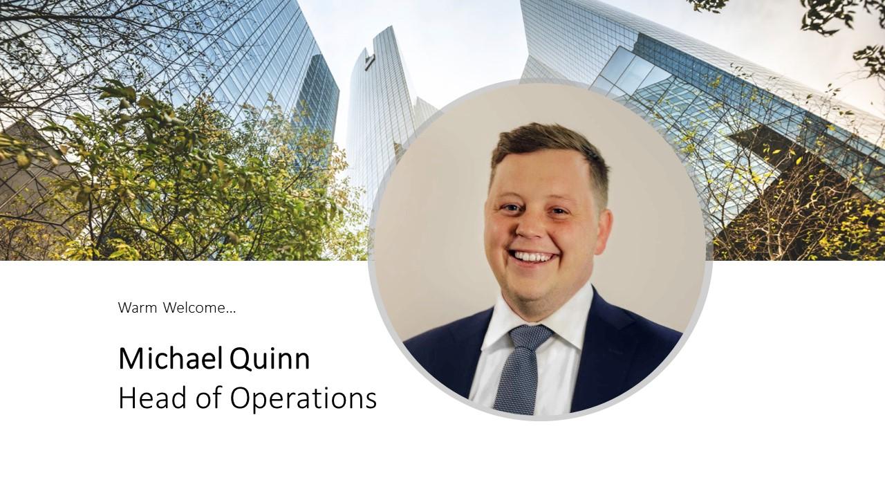 Welcoming Michael Quinn
